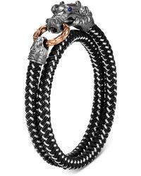 John Hardy Black Rhodium Silver & Bronze Legends Naga Dragon Wrap Bracelet