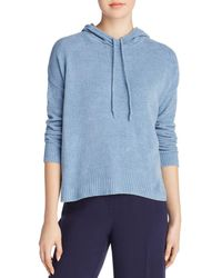 Eileen Fisher - Organic Cotton Hooded Top - Lyst