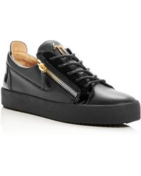 Giuseppe Zanotti - Men's Leather Lace Up Sneakers - Lyst