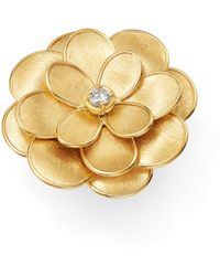 Marco Bicego - 18k Yellow Gold Petali Diamond Ring - Lyst