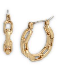 AllSaints Hammered Link Hoop Earrings - Multicolour