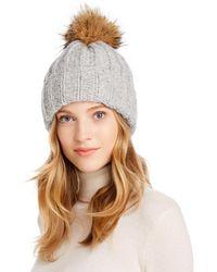 Inverni Coyote - Fur Pom - Pom Beanie - Gray