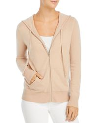 C By Bloomingdale's Cashmere Zip Hoodie - Natural