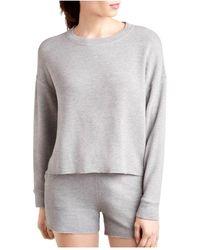 Splendid Crewneck Long Sleeve Sweatshirt - Grey