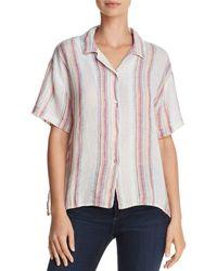 Rails - Zuma Metallic Striped Shirt - Lyst