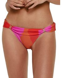 ViX Artsy Via Tube Full Bikini Bottom - Red