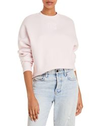 T By Alexander Wang Foundation Cotton Terry Sweatshirt - Pink