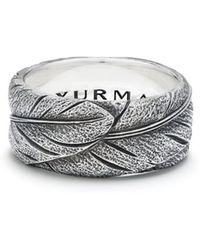 David Yurman - Southwest Wide Feather Band Ring - Lyst