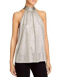Kim & Cami Sleeveless Metallic Tie - Back Top