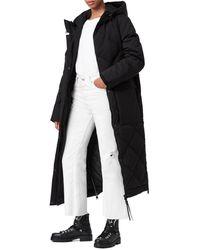 AllSaints Lucie Hooded Down Puffer Coat - Black