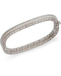 Roberto Coin Robert Coin 18k White Gold Princess Diamond Bangle Bracelet