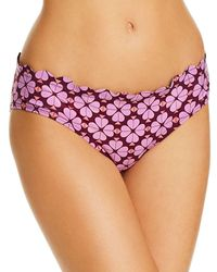 Kate Spade Scalloped Hipster Bikini Bottom - Purple