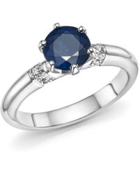 Roberto Coin - Platinum Solitaire Sapphire And Diamond Ring - Lyst