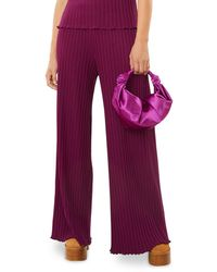 Simon Miller Marek Ribbed Wide Leg Trousers - Purple