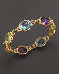 Bloomingdale's - Cabochon Amethyst, Blue Topaz, Citrine And Prasiolite Bracelet In 14k Yellow Gold - Lyst