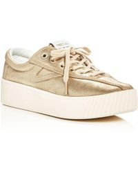 Tretorn | Women's Nylite Bold Metallic Lace Up Platform Sneakers | Lyst