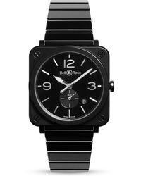 Bell & Ross - Br S Black Ceramic Watch - Lyst