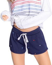 Pj Salvage Embroidered Star Shorts - Blue