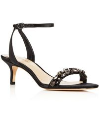 Imagine Vince Camuto Women's Kolo Embellished Kitten - Heel Sandals - Black