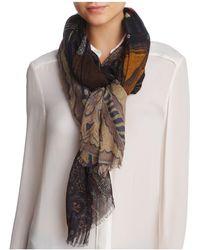 Larioseta - Multi Mosaic Print Wool Scarf - Lyst