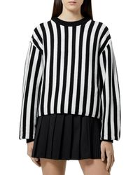The Kooples Striped Sweater - Black