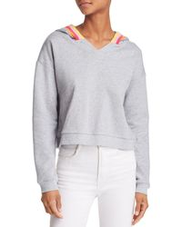 Honey Punch - Rainbow-stripe Hooded Sweatshirt - Lyst