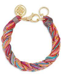 Kendra Scott Masie Multicolour Cord Friendship Bracelet - Red