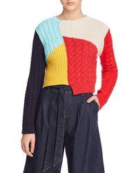 Alice + Olivia - Lebell Colour Block Pullover - Lyst