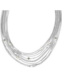 Karl Lagerfeld Safety Pin & Pearl Multi Strand Necklace