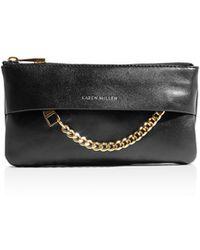 Karen Millen - Chain Detail Leather Coin Purse - Lyst