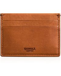 Shinola Leather Card Case - Brown
