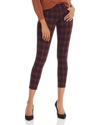 Joe's Jeans The Icon Skinny Ankle Jeans In Crimson Plaid - Multicolor
