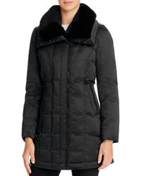 Trina Turk - Adrianna Rabbit Fur Trim Down Coat - Lyst