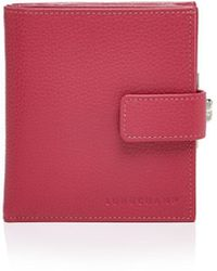Longchamp Le Foulonne Leather French Wallet - Pink