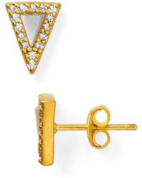 Freida Rothman - Slice Stud Earrings - Lyst