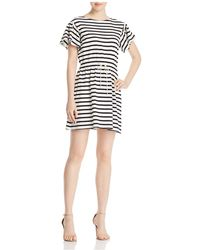 Kate Spade - Striped Fit-and-flare Dress - Lyst