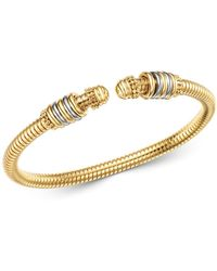 Bloomingdale's 14k Yellow & White Gold Tubogas Bangle Bracelet - Metallic