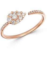 Bloomingdale's Cluster Diamond Ring In 14k Rose Gold - Metallic
