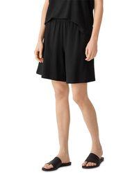 Eileen Fisher Flared Shorts - Black