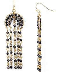 Aqua | Shaky Jet Drop Earrings | Lyst