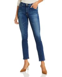 AG Jeans Mari Straight - Leg Jeans In 7 Years Timeless - Blue