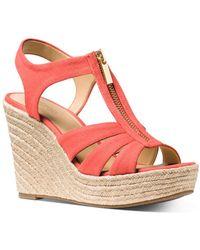MICHAEL Michael Kors Women's Berkley Woven Espadrille Wedge Sandals - Pink
