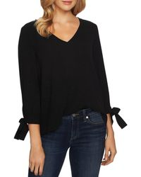 Cece By Cynthia Steffe Tie - Cuff Top - Black