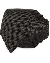 Theory Roadster Solid Knit Silk Skinny Tie - Black