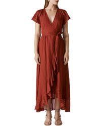 Whistles Nolita Wrap Maxi Dress - Red