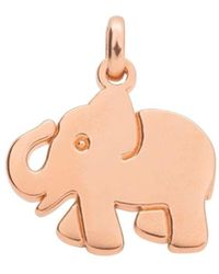 Tous 18k Rose Gold - Plated Sterling Silver Idol Luck Elephant Pendant - Multicolor