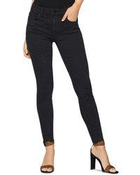 BCBGeneration Raw - Edge Skinny Jeans In Smoke Leopard - Multicolour