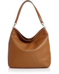 Aqua Leather Hobo - Brown
