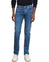 Sandro Washed Slim Fit Jeans In Blue Vintage
