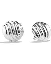 David Yurman - Sculpted Cable Earrings - Lyst